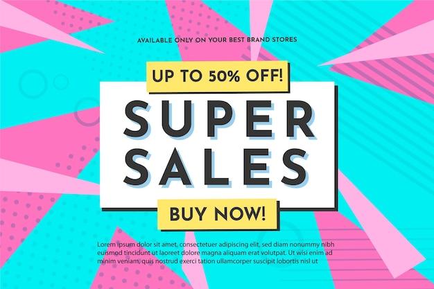 Abstracte super verkoopachtergrond Gratis Vector