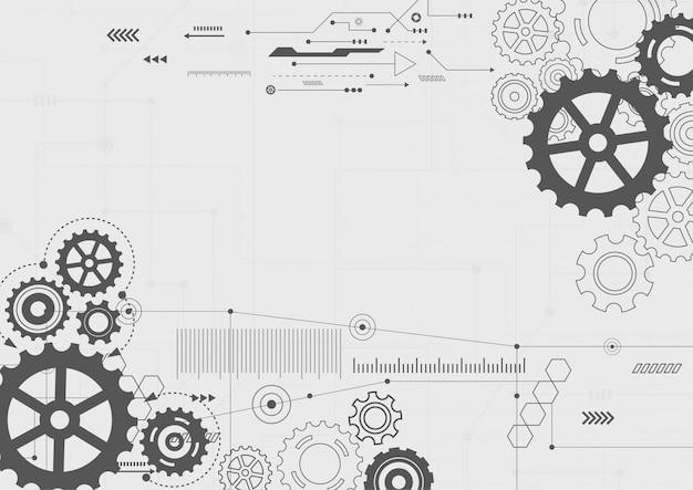 Abstracte technische achtergrond Premium Vector