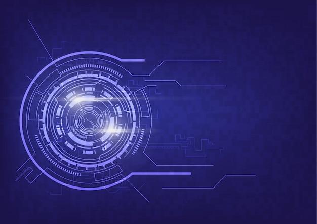 Abstracte technologie communicatie achtergrond Premium Vector