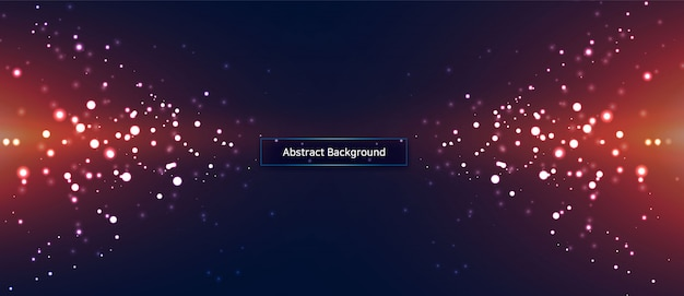 Abstracte technologie deeltje achtergrond Premium Vector