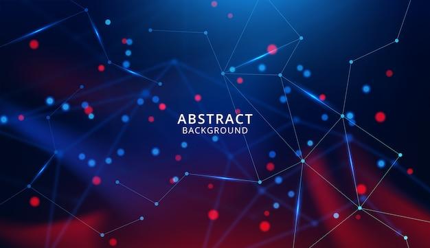 Abstracte technologie met verbindende punten en lijnen Premium Vector