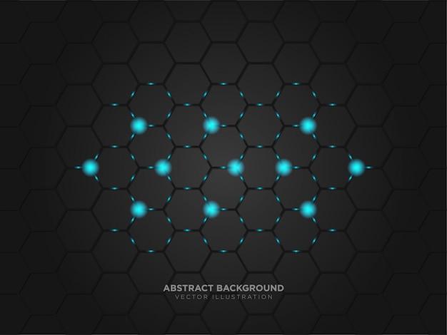 Abstracte technologie metallic zwarte kleur lay-out moderne technologie Premium Vector