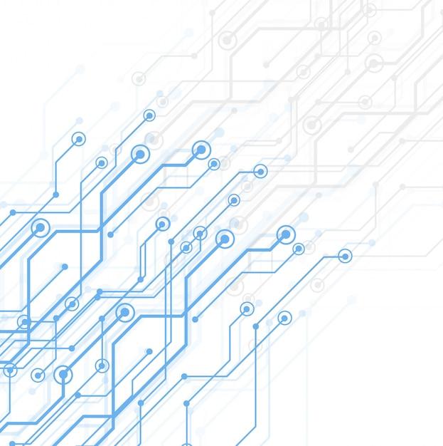 Abstracte technologie printplaat Gratis Vector
