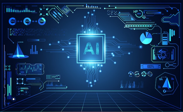 Abstracte technologie ui futuristisch Premium Vector
