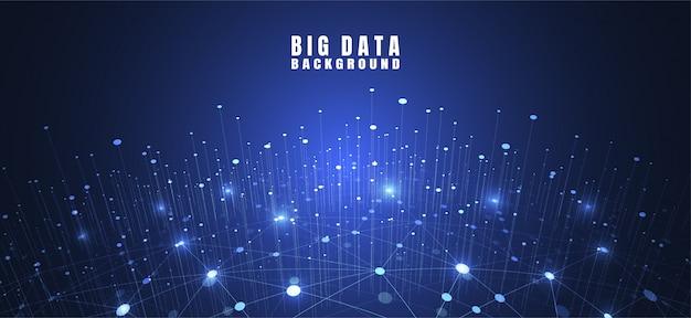 Abstracte technologieachtergrond met big data Premium Vector