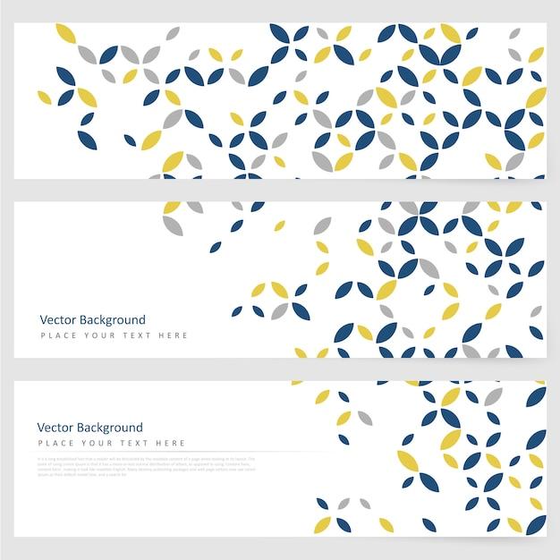 Abstracte template horizontale banner Gratis Vector