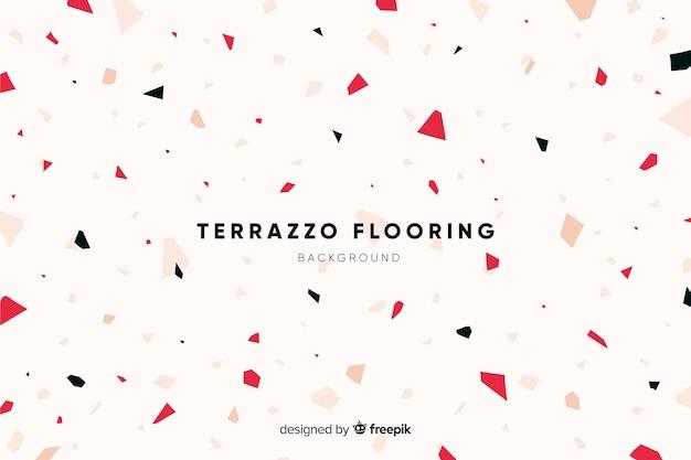 Abstracte terrazzo textuur vloeren achtergrond Gratis Vector
