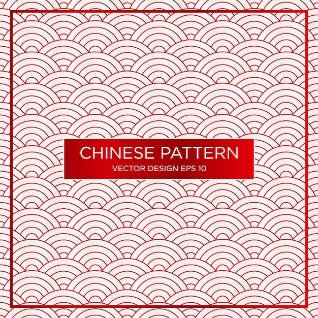Abstracte traditionele chinese patroon achtergrond sjabloon Premium Vector