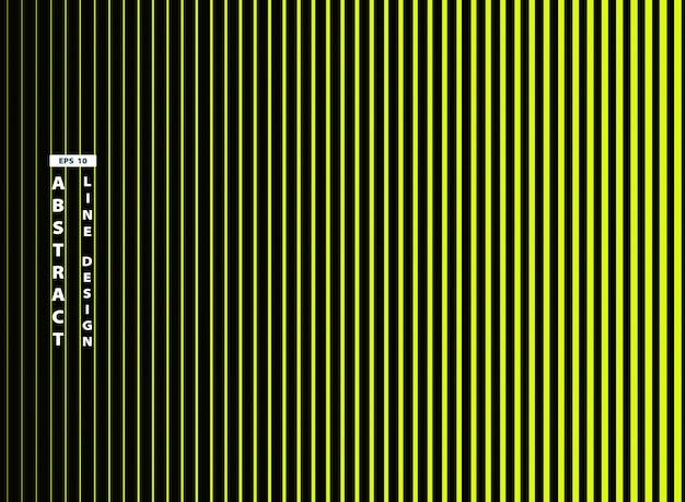 Abstracte trendy levendige groene lijn op zwarte achtergrond. Premium Vector
