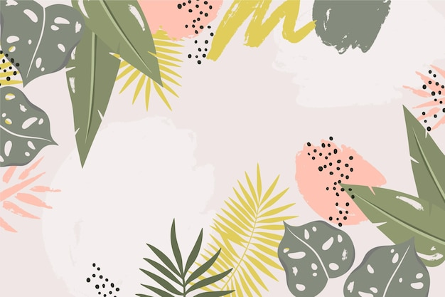 Abstracte tropische bladeren achtergrond Premium Vector