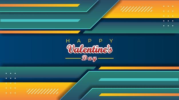 Abstracte valentijn achtergrond moderne decoratie ontwerpsjabloon Premium Vector