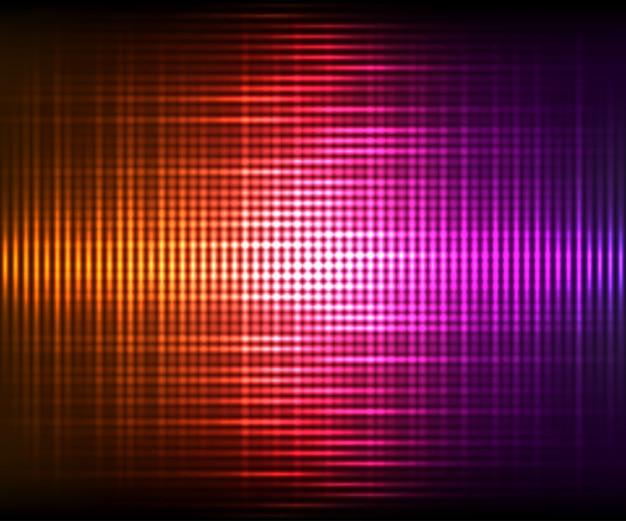 Abstracte vector kleurrijke glanzende achtergrond. vectorillustratie met lichteffecten op donkere achtergrond Premium Vector