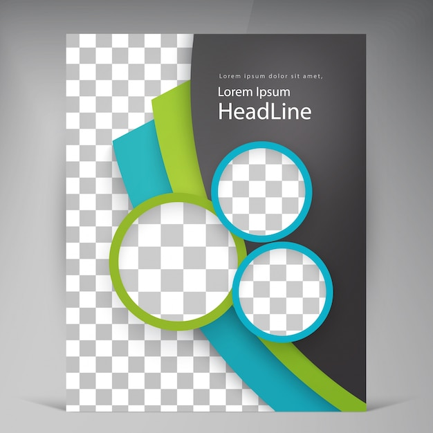 Abstracte vector moderne flyers brochure. Gratis Vector