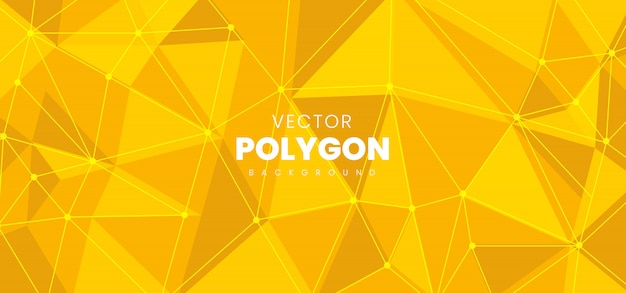 Abstracte veelhoek achtergrond Premium Vector