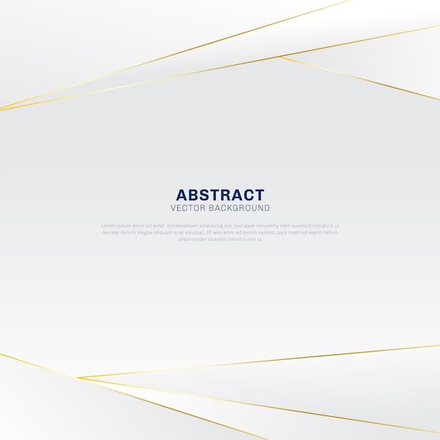 Abstracte veelhoekige luxe gouden en witte achtergrond Premium Vector
