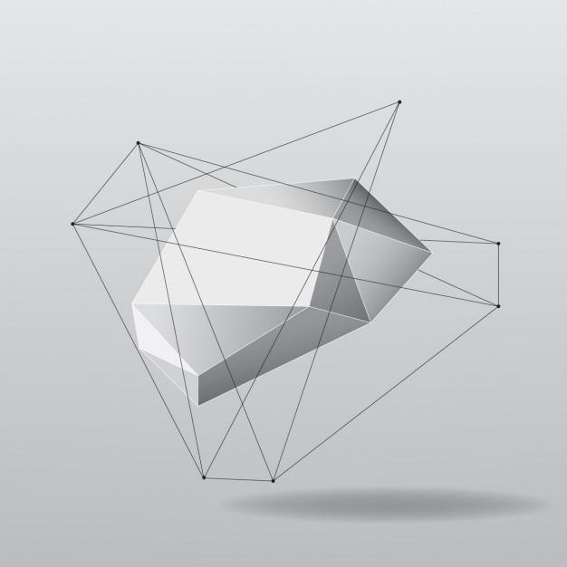 Abstracte veelhoekige vorm Gratis Vector