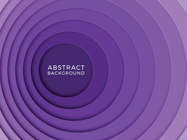 Abstracte veelkleurige achtergrond met ronde papier gesneden lagen Premium Vector