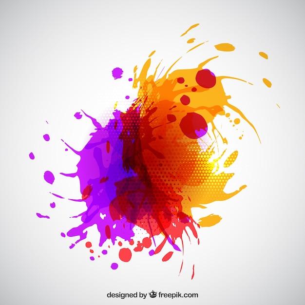 Abstracte verf splash Gratis Vector