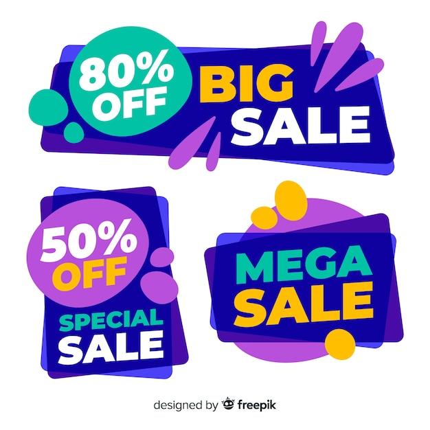 Abstracte verkoop banner collectie Gratis Vector