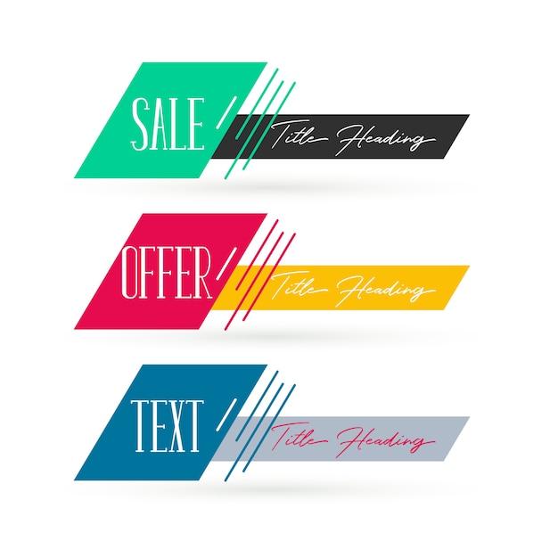 Abstracte verkoop banners decorontwerp Gratis Vector