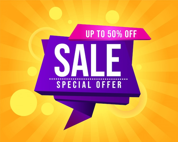 Abstracte verkoop promotionele banner Premium Vector