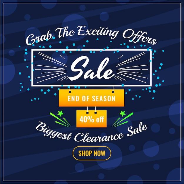 Abstracte verkoopaanbieding blauwe achtergrond Gratis Vector