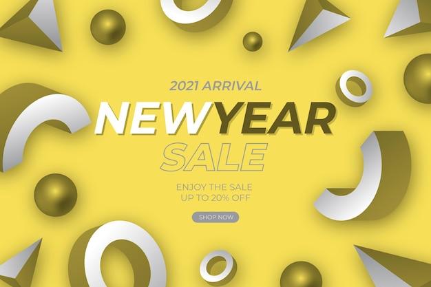 Abstracte verkoopbanner met kleur van het jaar Gratis Vector