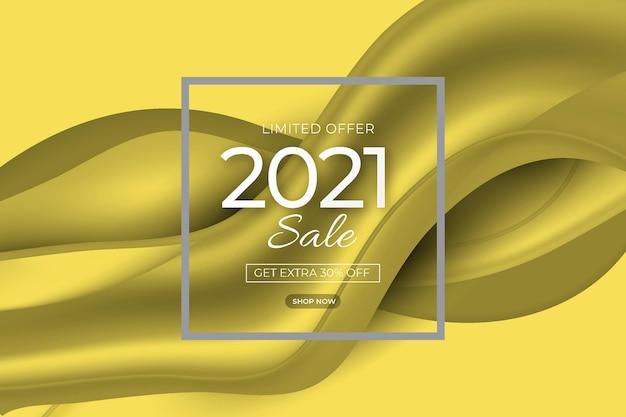 Abstracte verkoopbanner met verhelderende en ultieme grijze kleuren Premium Vector