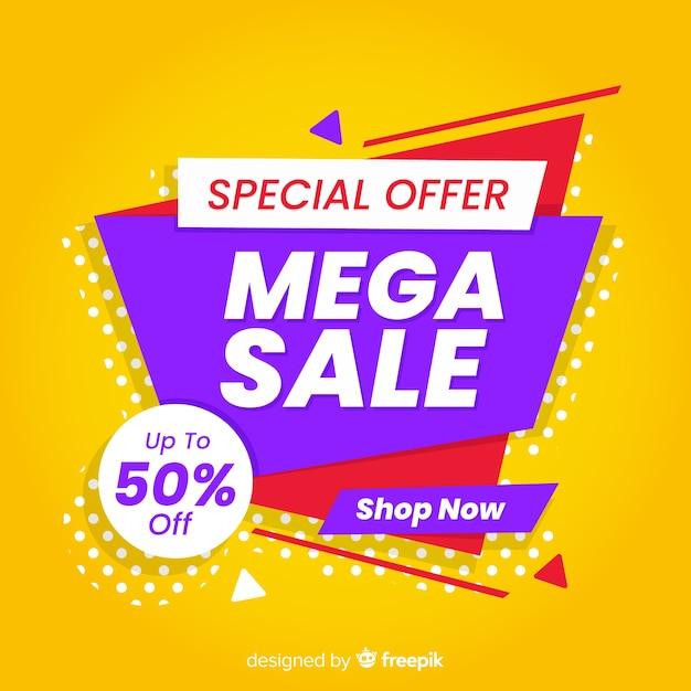 Abstracte verkooppromotie met speciale aanbieding Gratis Vector