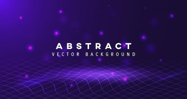 Abstracte vierkante golvende gloedachtergrond Premium Vector
