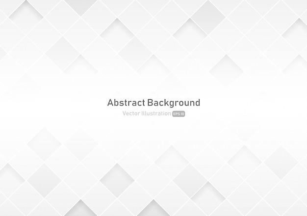 Abstracte vierkante witte en grijze kleurenachtergrond Premium Vector