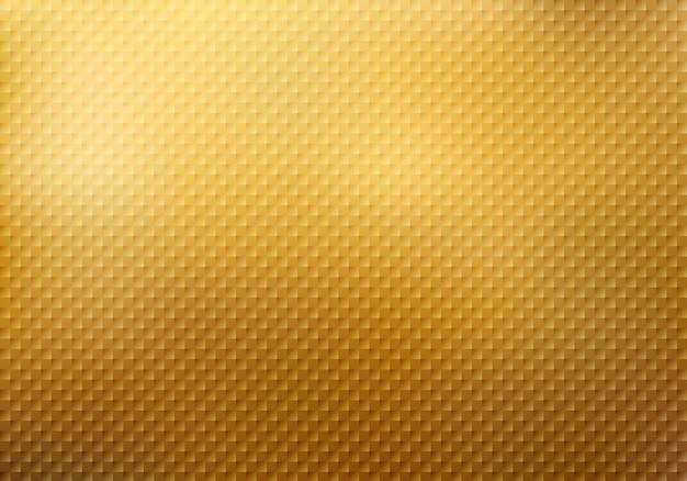 Abstracte vierkanten patroon textuur op gouden achtergrond Premium Vector