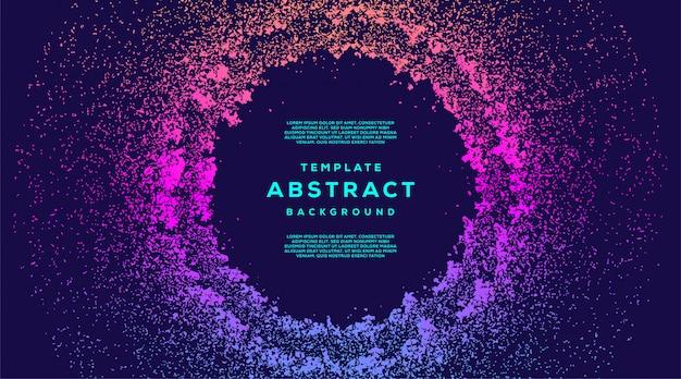 Abstracte vloeibare stroom deeltjes cirkel achtergrond Premium Vector
