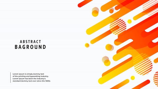 Abstracte volledige kleuren en lijnen als achtergrond in een mooie combinatie. Premium Vector