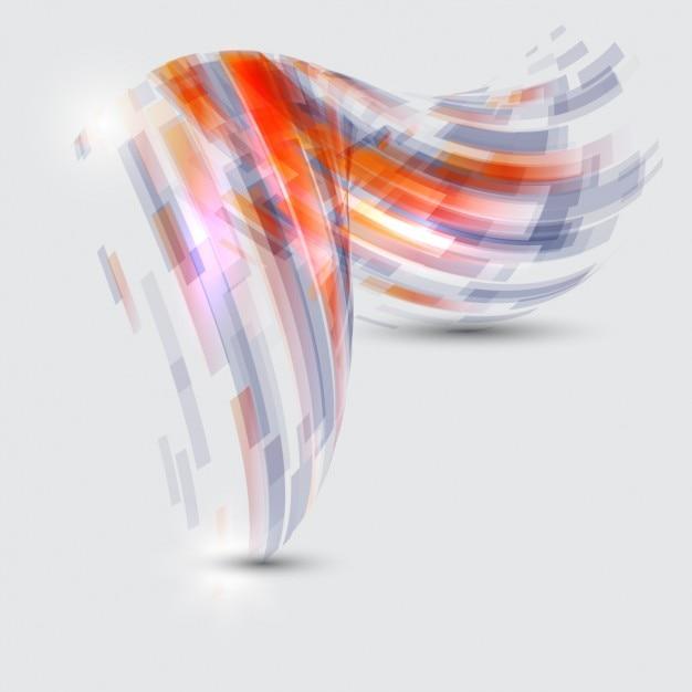 Abstracte vorm achtergrond Gratis Vector