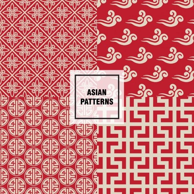 Abstracte vormen aziatische patroon Gratis Vector