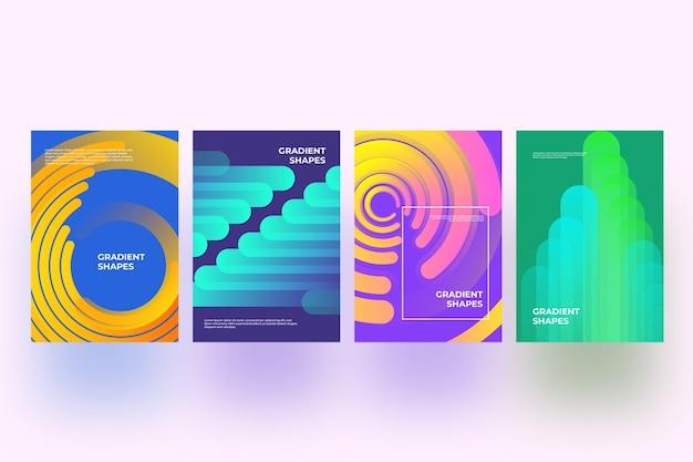 Abstracte vormen dekken collectie thema Gratis Vector