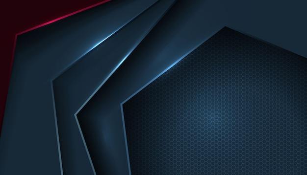 Abstracte vormlaag overlappen op zeshoekig patroon Gratis Vector