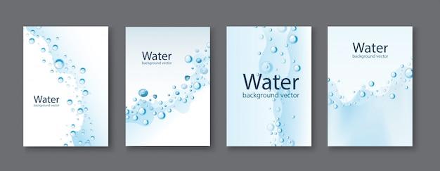 Abstracte water transparante druppels achtergronden. Premium Vector