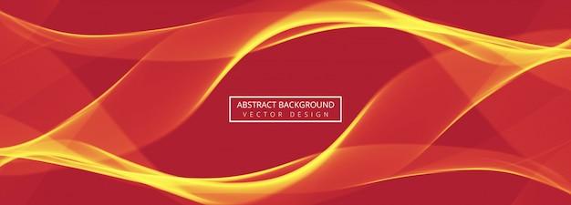 Abstracte wave koptekst instellen ontwerpsjabloon Premium Vector