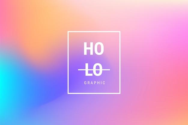 Abstracte wazig holografische verloop effect achtergrond Gratis Vector