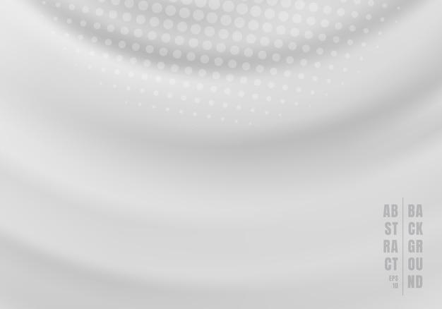 Abstracte wervelende gegolfte grijze achtergrond Premium Vector