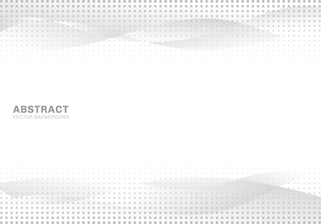 Abstracte witte en grijze golven halftone achtergrond Premium Vector