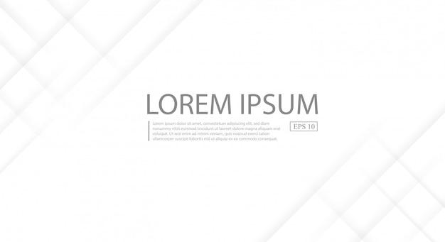 Abstracte witte en grijze kleurovergang strepen achtergrond. Premium Vector
