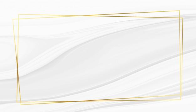 Abstracte witte marmeren textuur met gouden frame Gratis Vector