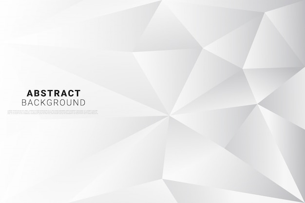 Abstracte witte poly achtergrond Premium Vector
