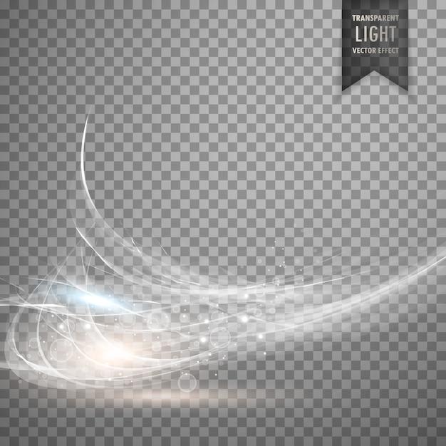 Abstracte witte transparante licht effect achtergrond Gratis Vector