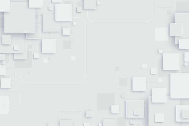 Abstracte witte vormen achtergrond Gratis Vector