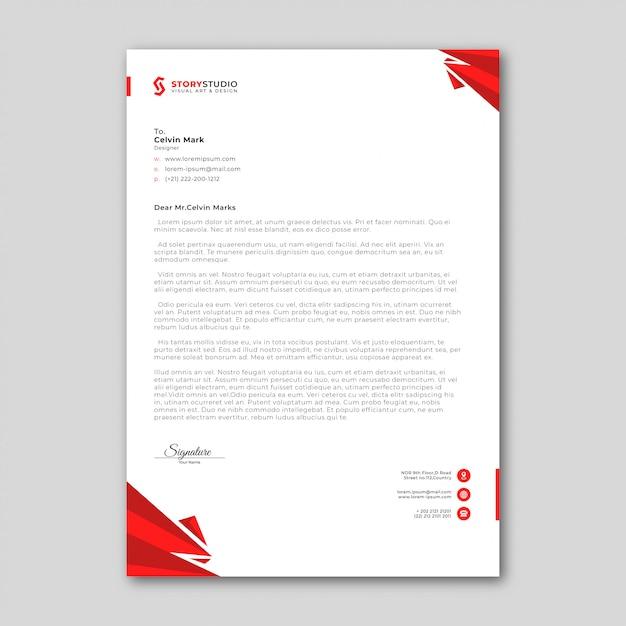 Abstracte zakelijke briefpapier sjabloon Premium Vector