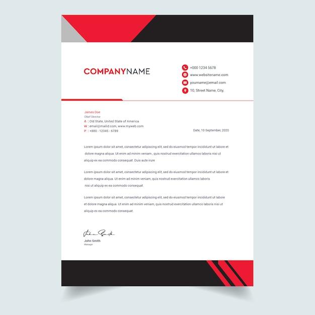 Abstracte zakelijke professionele briefhoofd sjabloonontwerp Premium Vector